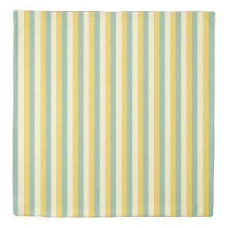 Summer Garden Palette Stripes Reversible Duvet Cover