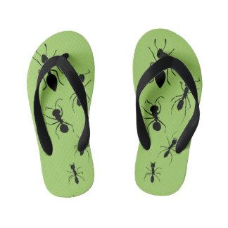 Summer Garden Party Crawling Picnic Ants Kid's Flip Flops
