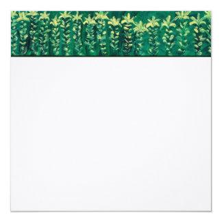"""Summer Garden Square Linen Note Card 5.25"""" Square Invitation Card"""