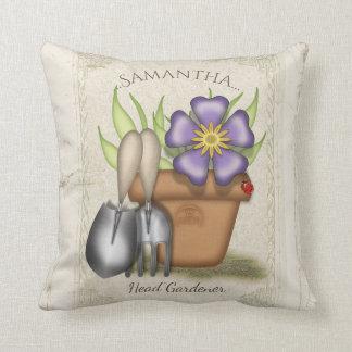 Summer Gardener Throw Pillow