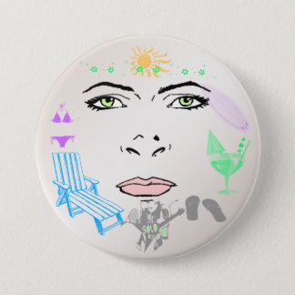 Summer Girl Button