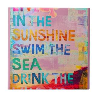 Summer Girl Tile