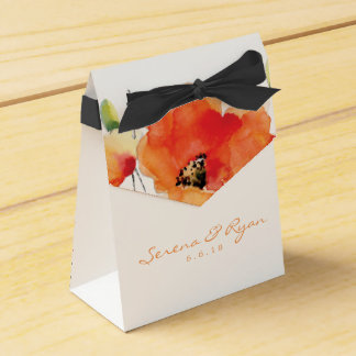 Summer Golden Poppy Wedding Favor Box