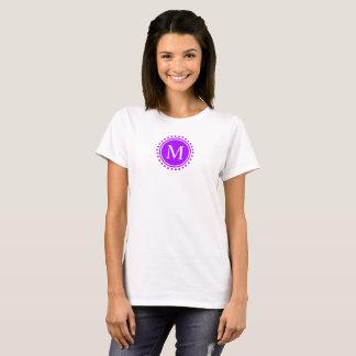 Summer Grape and White Polka Dot Monogram T-Shirt