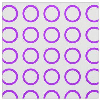 Summer Grape Rings on White Fabric