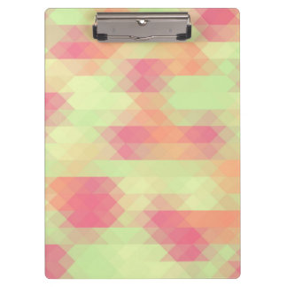 Summer Green And Pink Triangle Mosaic Clipboards