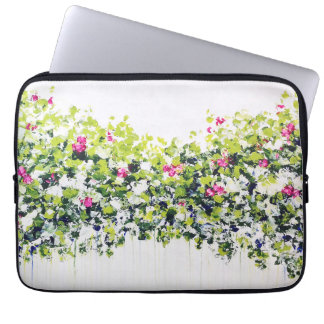 Summer Green Floral Laptop Sleeve