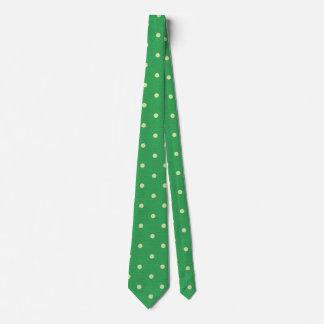 Summer Green Polka Dot Tie
