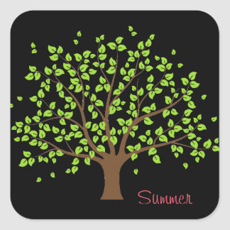 Summer Green Tree Sticker