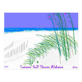 Summer Gulf Shores Alabama 2014 by: Da'vy Postcard