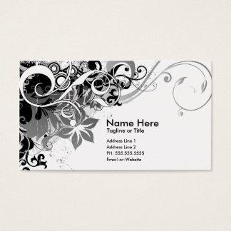 summer hi-fi black & white business card