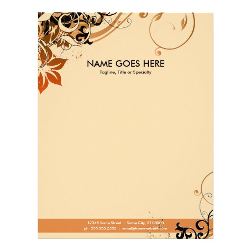 27 Personalized Stationery Templates: Summer Hi-fi Personalized Letterhead