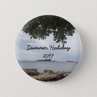 Summer Holiday Mediterranean Sea Photography 2 Inch Round Button