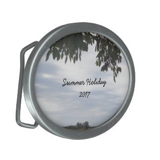 Summer Holiday Mediterranean Sea Photography Belt Buckle