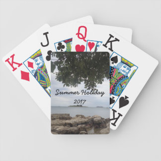Summer Holiday Mediterranean Sea Photography Bicycle Playing Cards