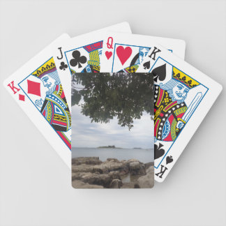 Summer Holiday Mediterranean Sea Photography Poker Deck