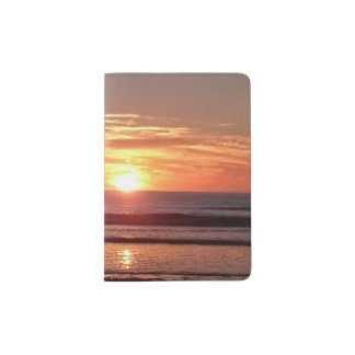 Summer holiday orange sunny sunset passport holder