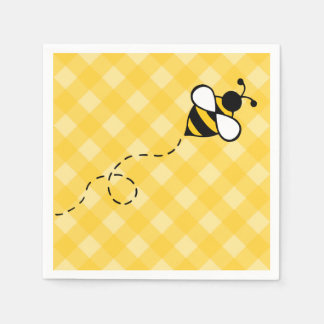 Summer Honey Bee Party Picnic Napkins Disposable Napkins