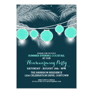 """Summer Housewarming Cocktail Party Invitations 5"""" X 7"""" Invitation Card"""
