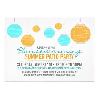 Summer Housewarming Patio Party Invitation