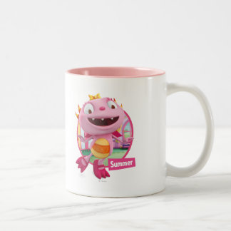 Summer Hugglemonster 2 Two-Tone Coffee Mug