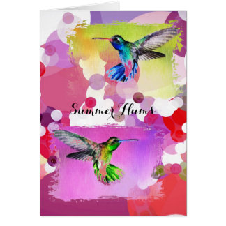 Summer Hums Blank Greeting Card