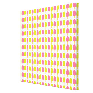 Summer Ice Cream Bars Stretched Canvas Prints