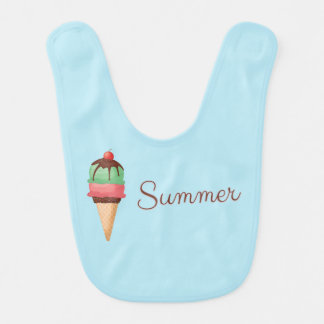 Summer Ice Cream Bib