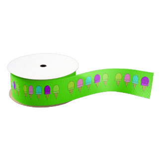 Summer Ice cream cones ribbon Grosgrain Ribbon