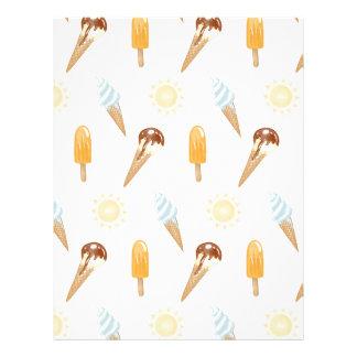 Summer ice cream personalized letterhead