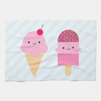 Summer Ice Cream Treats Kitchen Towel
