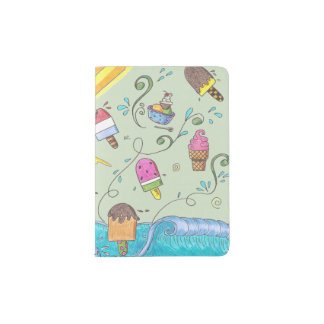 Summer ice creams passport holder