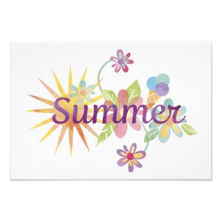 Summer illustration photographic print