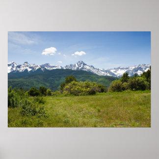 Summer in Colorado's San Juan Mountains Poster