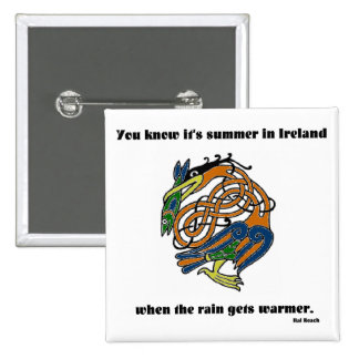 Summer in Ireland Pinback Buttons