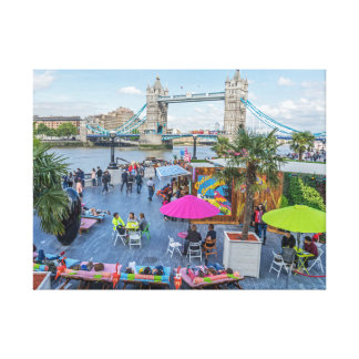 Summer in London canvas print