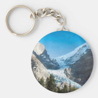 Summer in the mountains, glacier on the Jungfrau Keychain