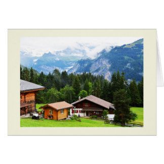 Summer in the Swiss alps Card