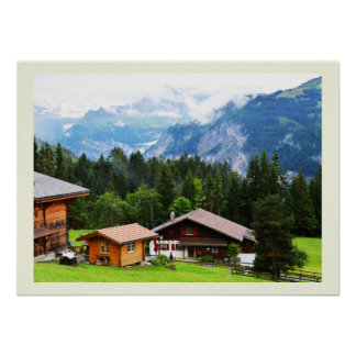 Summer in the Swiss alps Poster