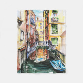 Summer in Venice Small Fleece Blanket