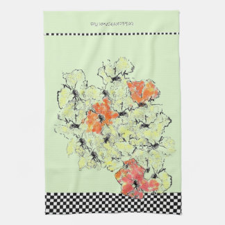 Summer into Fall Shabby Chic Wildflowers Kitchen Towel