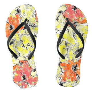 Summer into Fall Wildflowers Flip Flops