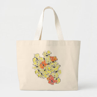 Summer into Fall Wildflowers Large Tote Bag