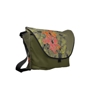 Summer Into Fall Wildflowers Messenger Bags