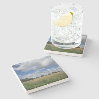 Summer Iowa Prairie Stone Coaster