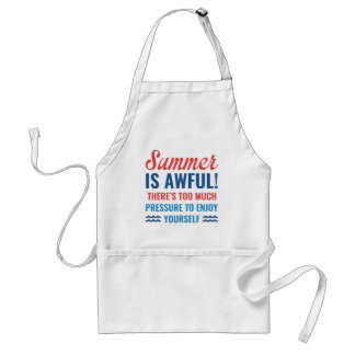 Summer Is Awful Standard Apron