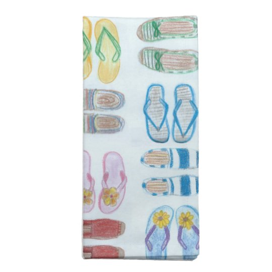 Summer is for Sandals Cloth Napkin Set
