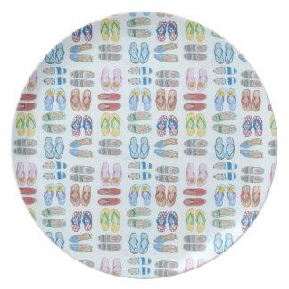Summer is for Sandals Melamine Plate