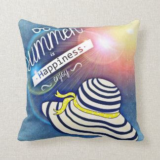 Summer is Happiness Throw Pillow
