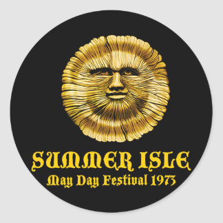 Summer Isle May Day Festival Classic Round Sticker